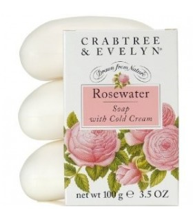 Crabtree & Evelyn Classic Rosewater saponi 3 x 100 g